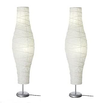IKEA UNIQUE Shade: Rice paper Floor Lamp SET OF TWO Dudero