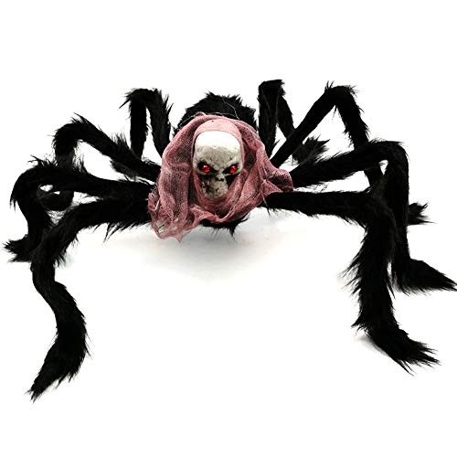 Simulation Spider Skull Halloween Decorations for Haunted Houses Party Doorways Outdoors Décor, Design 2]()