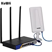 KuWFi 300mbps High Power Wireless Router USB Port with OpenWRT Wireless wifi usb adapter 5M USB Cable extend Long distance