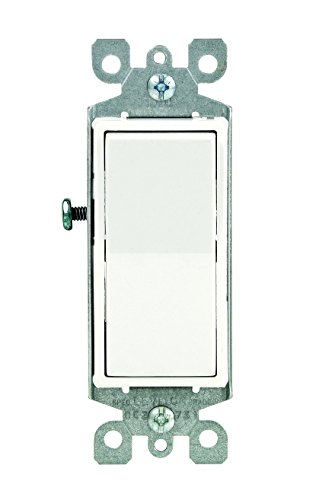 - Leviton 5601-2WM 15 Amp, 120/277 Volt, Decora Rocker Single-Pole AC Quiet Switch, Residential Grade, Grounding, 10-Pack, White