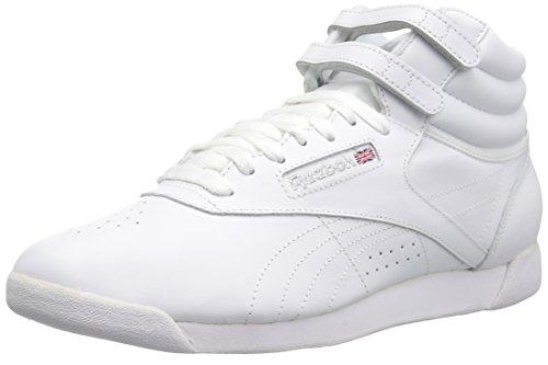 Reebok Women's F/S HI Sneaker, White/Silver, 10.5 M US -  70-WHI-10.5 M US