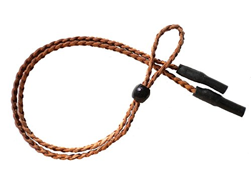 Braided Leather Sport Eyeglass and Sunglass Keeper Retainer Strap (Unisex)
