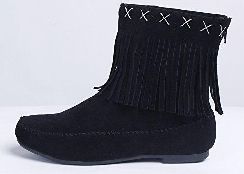 Femme Bottes Su AgeeMi Flat Faux Shoes EUSwqx5