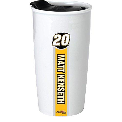 NASCAR #20 Matt Kenseth Double Wall Ceramic Tumbler-NASCAR Travel - Matt Wall Kenseth