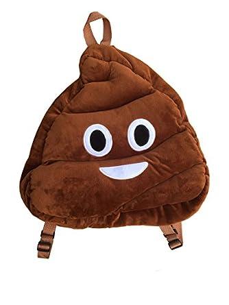 Amazon.com   Rolling Poo Emoticon Emoji Plush Backpack