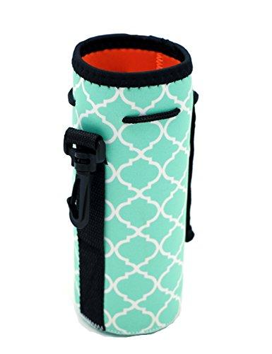 Water Bottle Sleeve, Carrier Cover Neoprene Water Bottle Drawstring Insulator Cooler Sleeve bag