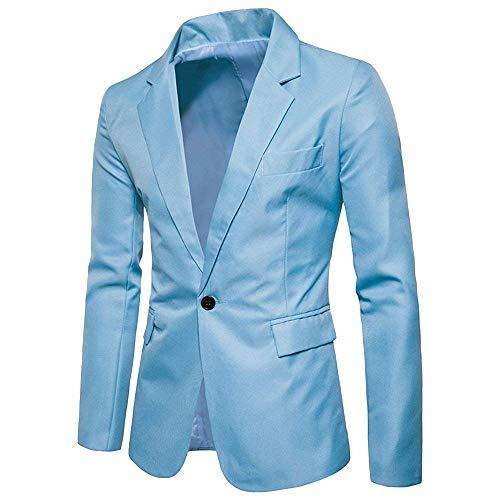 Single Classiche Prom Uomo Slim Fashion Himmelblau Ragazzi Elegante Da Button Sposa Cappotto Abito Fit Premium Jacket Laisla Casual Blazer qzRFx