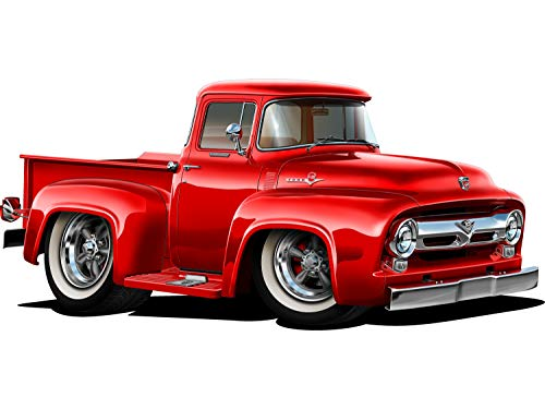 (Lets Print Big 1956 Ford F-100 Pickup Truck Wall Decal REPOSITIONABLE (12
