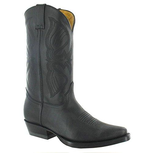 Grinders Boots Black Mens Louisiana Leather CtrQxshd