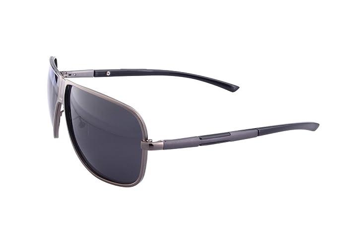 yufenra Marco de aluminio de aleación de magnesio Aviator Gafas de sol polarizadas para Conducción: Amazon.es: Ropa y accesorios