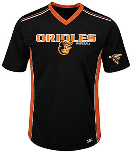 VF Baltimore Orioles MLB Mens Cool Base Performance V Neck Jersey Black Big Sizes – DiZiSports Store