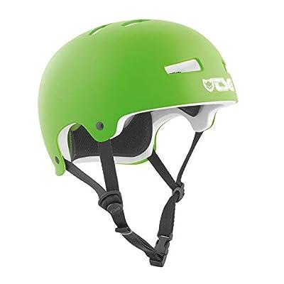 TSG Evolution Skate & Bike Helmet in Satin Lime Green w/Snug Fit & Triple Cert. for Skateboarding, Cycling, MTB, Park Skating, Roller Derby, and Scooter : Sports & Outdoors