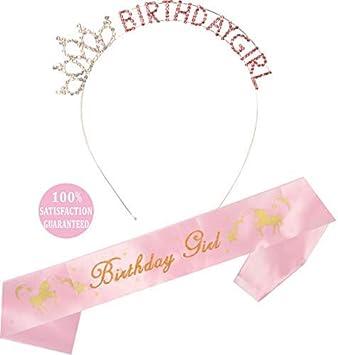 Amazon.com: Cinta y diadema de unicornio para cumpleaños o ...