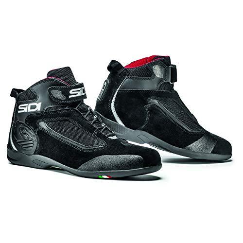 (Sidi Gas Motorcycle Riding Shoe Black US9.5/EU43 (More Size Options))