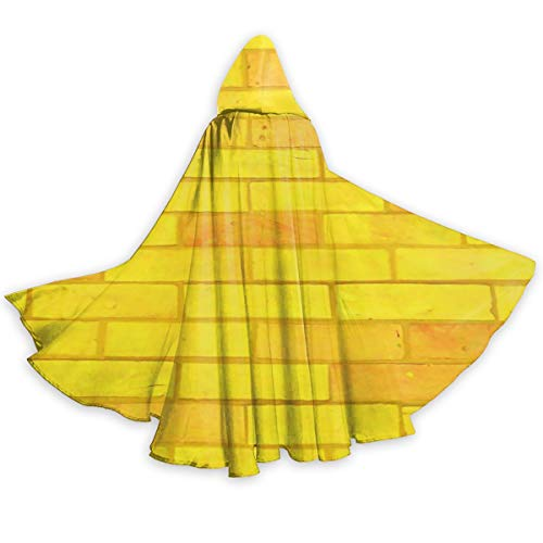 MHFJFZE Yellow Brick Road Unisex Hooded Cape