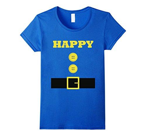 Happy Halloween Costumes (Womens Funny HAPPY Halloween Costume for Men Women Boys Girls XL Royal Blue)
