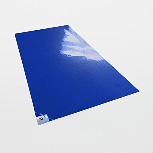 Cleanroom Mats Sticky (Cleanroom Adhesive Sticky Mats / Tacky Mats (4 Mats of 30 Sheets) (24