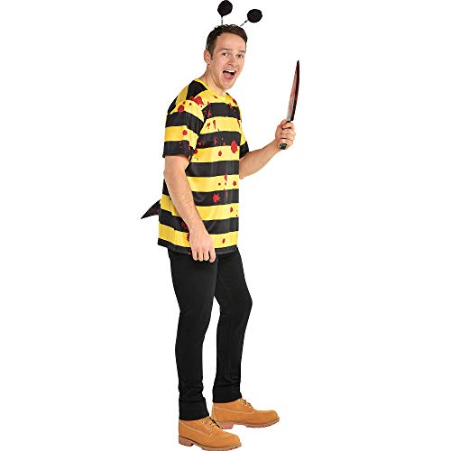 amscan Killer Bee Halloween Costume Accessory Kit for Adults, One Size, 4
