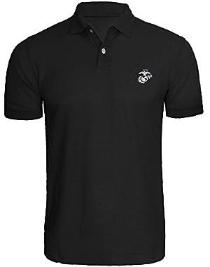 Mens USMC Marines Corps Embroidered Polo Shirts Men Shirts