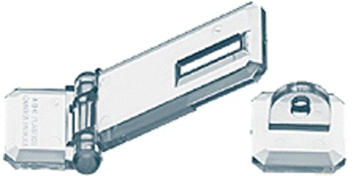 Source One Deluxe Crystal Clear Acrylic Flat Mount Hasp (6 Pack)