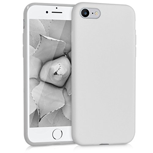 kwmobile TPU Silicone Case for Apple iPhone 7/8 - Soft Flexible Shock Absorbent Protective Phone Cover - Light Grey Matte from kwmobile