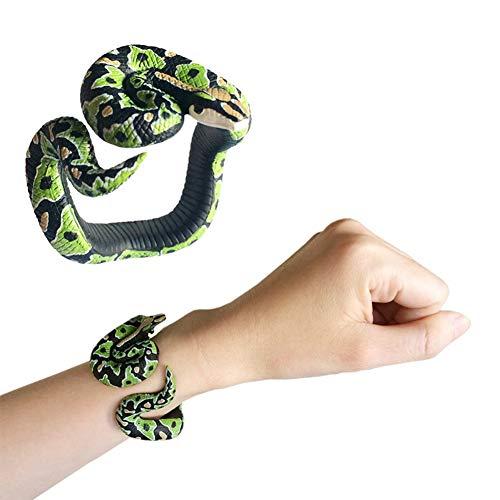 Forart Simulation Snake Toy Big Snake Python Model Toy Halloween Tricky Creepy Prank Scary Snake Toy