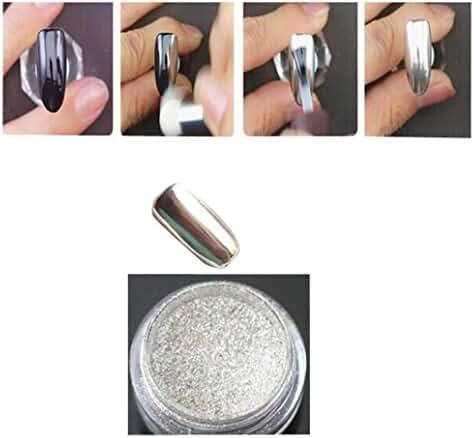Mchoice 1g/ Box Gold Sliver Nail Glitter Powder Shinning Nail Mirror Powder Makeup Art DIY Chrome Pigment