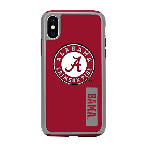Forever Collectibles iPhone X Dual Hybrid Impact Licensed Case – NCAA Alabama Crimson Tide