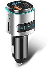 ELEGIANT Trasmettitore FM Bluetooth, Accendisigari Auto QC 3.0 Caricabatteria Auto USB con Due Porta Adattatore per iPhone XS Max XR x 8s iPad Samsung S10 S8+ HTC Huawei P20 PRO 10 LG Xiaomi 9 Sony