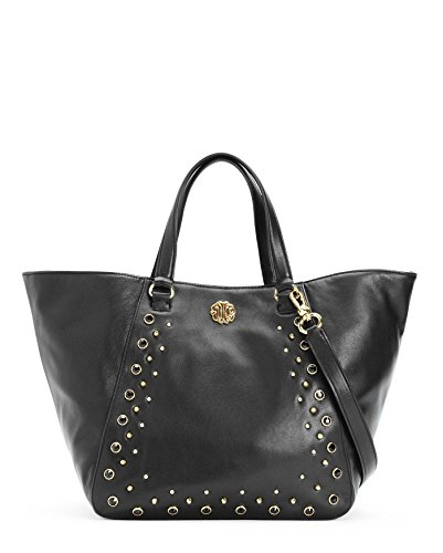 Juicy Couture Tote Handbag - Juicy Couture Hollywood Leather Tote, Black, One Size