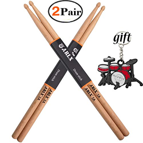 Drum Sticks 5A Wood Tip Drumstick (2 Pair (Neil Peart Drumsticks)
