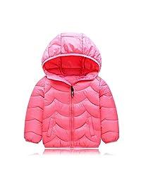 XINXINHAIHE Little Boys Girls Winter Puffer Down Jacket Coat Warm Hoodie Outwear