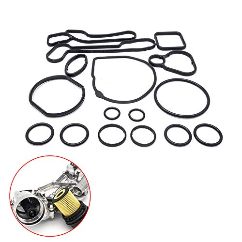 15 PCS Gasket Seals for Engine Oil Cooler and Filter Housing Repair Kit fit 2006-2015 Chevrolet Cruze Astra Aveo Aveo5 Sonic G3 1.6L & 1.8L Engines