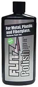 Flitz LQ 04535 Green Metal, Plastic and Fiberglass Polish Liquid, 3.4 oz. Bottle