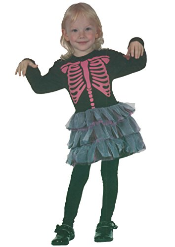 Girls Skeleton Girl Tolddler Under Age 4 Years (Toddler (Under 4 years), Black) -