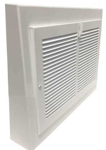 Vintage White Steel Baseboard Registers - 13'' X 12'' Outside Dimensions