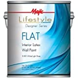 Majic 8-1811-1 Interior Latex Flat Wall Paint, White (Pack Of 4)