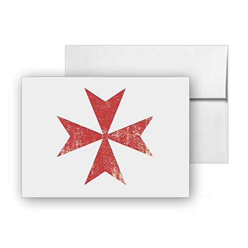 Maltese Cross Religion Chopper, Blank Card Invitation Pack, 15 cards at 4x6, with White Envelopes, Item 1386246