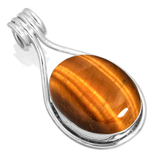 Silver Tiger Eye Necklace - 1