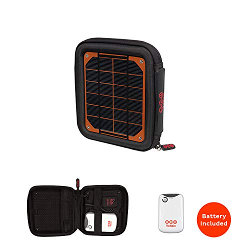 Voltaic Systems Milliamp Portable Solar Charger with Battery Pack (4,000mAh) - Orange