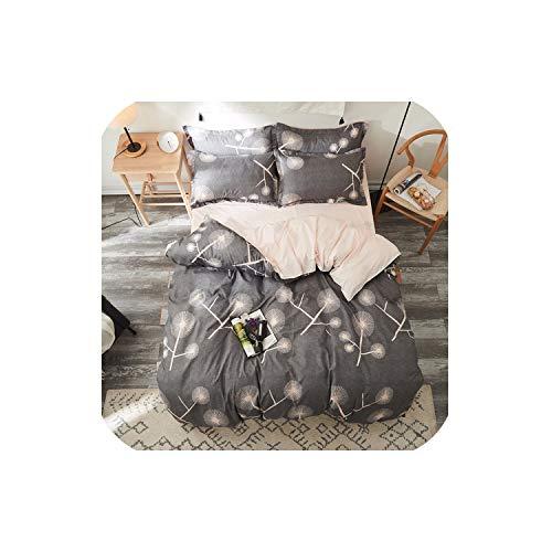 LOVE-JING Green Cactus Sheet Pillowcase Duvet Cover Set New Pastoral Bedding Set Modern Bed Linen Autumn Bedclothes 3/4Pcs /Set Kids Set,27,Twin - Crib 4 Piece Bedding Coco