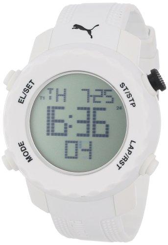 PUMA Men's PU911031004 Sport Watch with White Polyurethane Band