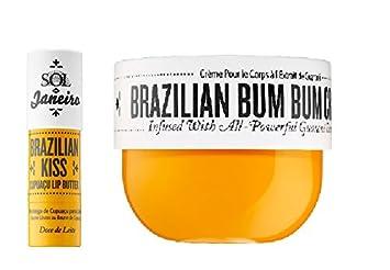 Brazilian Bum Bum Cream 8 oz and Brazilian Kiss Lip Butter – Bundle