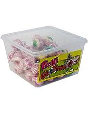 Trolli Glotzer schuimsuiker, rubberbonbons met zure fruitige vulling 60 stuks