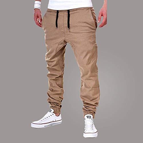 Color Deportivos Casual Cómodo Los Khaki Otoño Con Sólido Moda Hombres Bolsillos Battercake Jogging Pantalones Primavera Y De Yq88SO