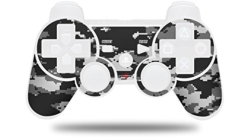 WraptorCamo Digital Camo Gray - Decal Style Skin fits Sony PS3 Controller (CONTROLLER NOT INCLUDED)