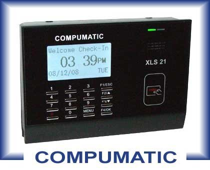 COMPUMATIC XLS 21 PIN ENTRY EMPLOYEE PAYROLL TIME CLOCK PACKAGE by COMPUMATIC (Employee Pin Clock Entry Time)
