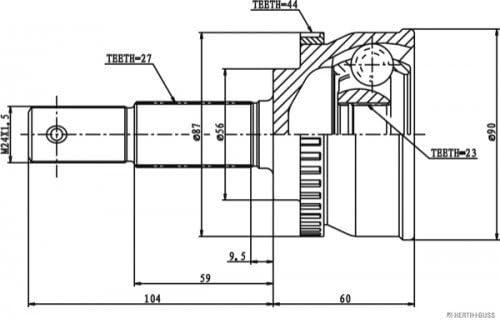 Antriebswelle HERTH+BUSS JAKOPARTS J2821144 Gelenksatz