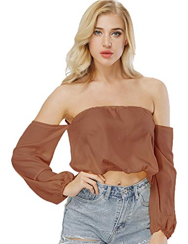 (Agmibrelr Womens Women's Plus Size Going Out Party Sexy Novelty Crop Top Tops for Women Coffee XL)