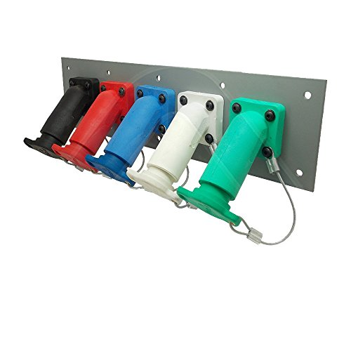 Power Assemblies 5 Position CAM Lock Panel, 400 Amp, 3 Phase 120/208V, Female, 45°, Threaded Post connections with NEMA 3R Caps and Lanyards, Series 16 CAM Connectors, Power Distribution Panel ()
